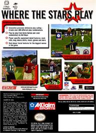 Box back cover for NFL Quarterback Club 2002 on the Nintendo GameCube.