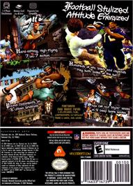 Box back cover for NFL Street on the Nintendo GameCube.