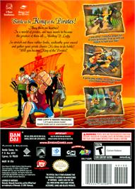 Box back cover for One Piece: Grand Battle on the Nintendo GameCube.