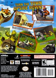 Box back cover for Over the Hedge on the Nintendo GameCube.