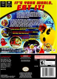 Box back cover for Pac-Man World 3 on the Nintendo GameCube.