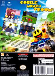 Box back cover for Pac-Man World Rally on the Nintendo GameCube.