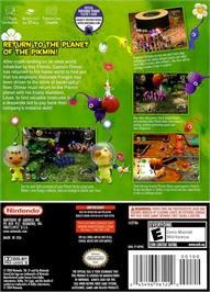 Box back cover for Pikmin 2 on the Nintendo GameCube.
