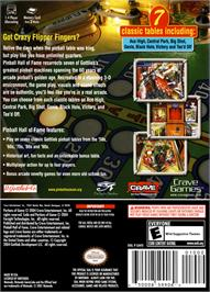 Box back cover for Pinball Hall of Fame: The Gottlieb Collection on the Nintendo GameCube.