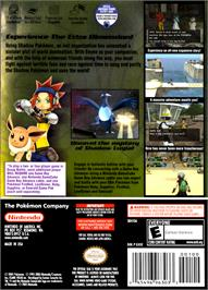 Box back cover for Pokemon XD: Gale of Darkness on the Nintendo GameCube.