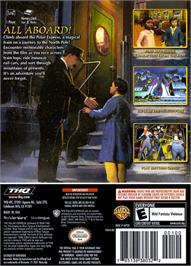 Box back cover for Polar Express on the Nintendo GameCube.