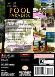 Box back cover for Pool Paradise on the Nintendo GameCube.