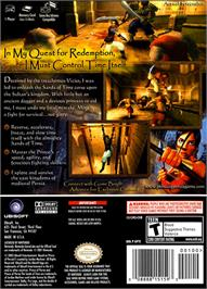 Box back cover for Prince of Persia: The Sands of Time on the Nintendo GameCube.