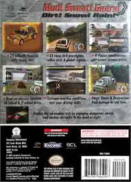 Box back cover for Rally Championship on the Nintendo GameCube.