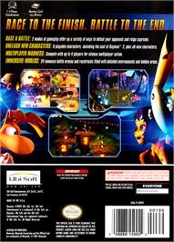 Box back cover for Rayman Arena on the Nintendo GameCube.