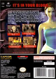 Box back cover for Resident Evil 3: Nemesis on the Nintendo GameCube.