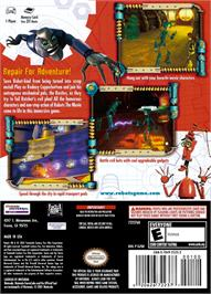Box back cover for Robots on the Nintendo GameCube.