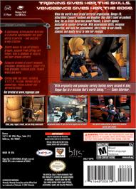 Box back cover for Rogue Ops on the Nintendo GameCube.