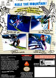 Box back cover for SSX on Tour on the Nintendo GameCube.