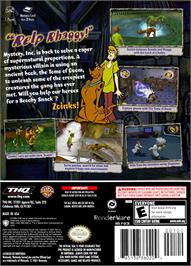 Box back cover for Scooby Doo!: Night of 100 Frights on the Nintendo GameCube.