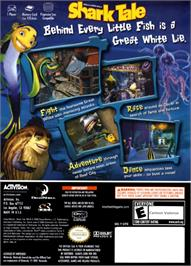 Box back cover for Shark Tale on the Nintendo GameCube.