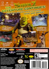 Box back cover for Shrek 2 on the Nintendo GameCube.