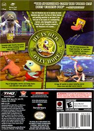 Box back cover for SpongeBob SquarePants: Battle for Bikini Bottom on the Nintendo GameCube.