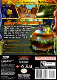 Box back cover for SpongeBob SquarePants: The Movie on the Nintendo GameCube.