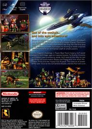 Box back cover for Star Fox Adventures on the Nintendo GameCube.
