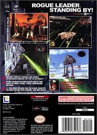 Box back cover for Star Wars: Rogue Squadron II - Rogue Leader on the Nintendo GameCube.