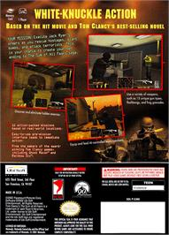 Box back cover for Sum of All Fears on the Nintendo GameCube.