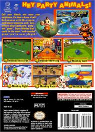 Box back cover for Super Monkey Ball on the Nintendo GameCube.