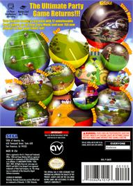 Box back cover for Super Monkey Ball 2 on the Nintendo GameCube.