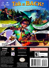 Box back cover for Tak 2: The Staff of Dreams on the Nintendo GameCube.