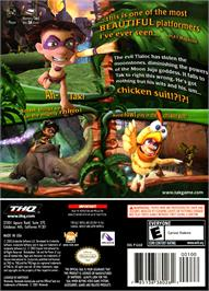 Box back cover for Tak and the Power of Juju on the Nintendo GameCube.