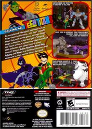 Box back cover for Teen Titans on the Nintendo GameCube.
