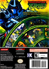 Box back cover for Teenage Mutant Ninja Turtles on the Nintendo GameCube.