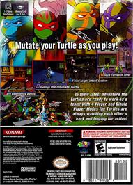 Box back cover for Teenage Mutant Ninja Turtles 3: Mutant Nightmare on the Nintendo GameCube.