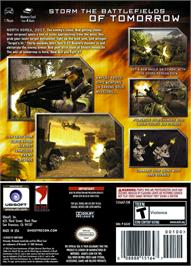 Box back cover for Tom Clancy's Ghost Recon 2 on the Nintendo GameCube.