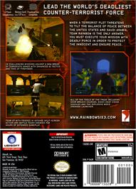 Box back cover for Tom Clancy's Rainbow Six: Lockdown on the Nintendo GameCube.