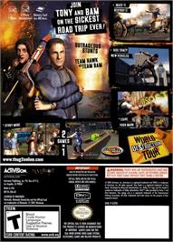 Box back cover for Tony Hawk's Underground 2 on the Nintendo GameCube.