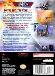 Box back cover for Top Gun: Combat Zones on the Nintendo GameCube.