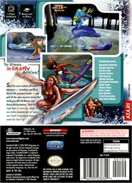Box back cover for TransWorld SURF: Next Wave on the Nintendo GameCube.