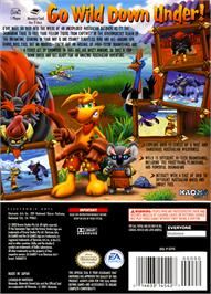 Box back cover for Ty the Tasmanian Tiger on the Nintendo GameCube.