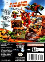 Box back cover for Ty the Tasmanian Tiger 2: Bush Rescue on the Nintendo GameCube.
