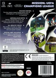 Box back cover for UEFA Champions League 2004-2005 on the Nintendo GameCube.