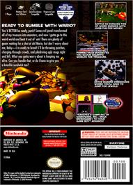 Box back cover for Wario World on the Nintendo GameCube.