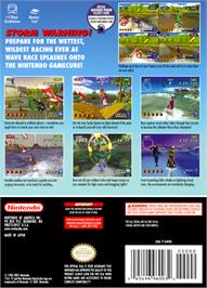 Box back cover for Wave Race: Blue Storm on the Nintendo GameCube.