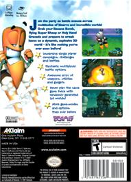 Box back cover for Worms 3D on the Nintendo GameCube.