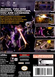 Box back cover for X-Men: Legends on the Nintendo GameCube.