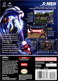 Box back cover for X-Men: Next Dimension on the Nintendo GameCube.