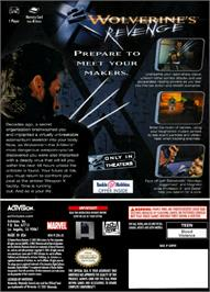 Box back cover for X2: Wolverine's Revenge on the Nintendo GameCube.