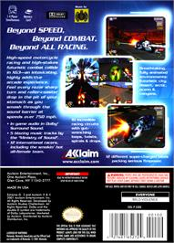 Box back cover for XG3: Extreme G Racing on the Nintendo GameCube.