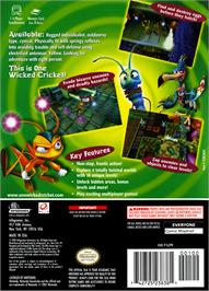 Box back cover for Zapper: One Wicked Cricket on the Nintendo GameCube.