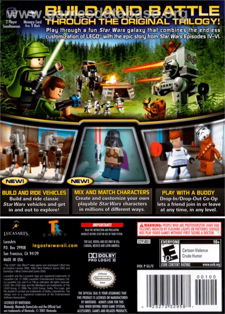 Lego Star Wars 2 The Original Trilogy Nintendo Gamecube Artwork